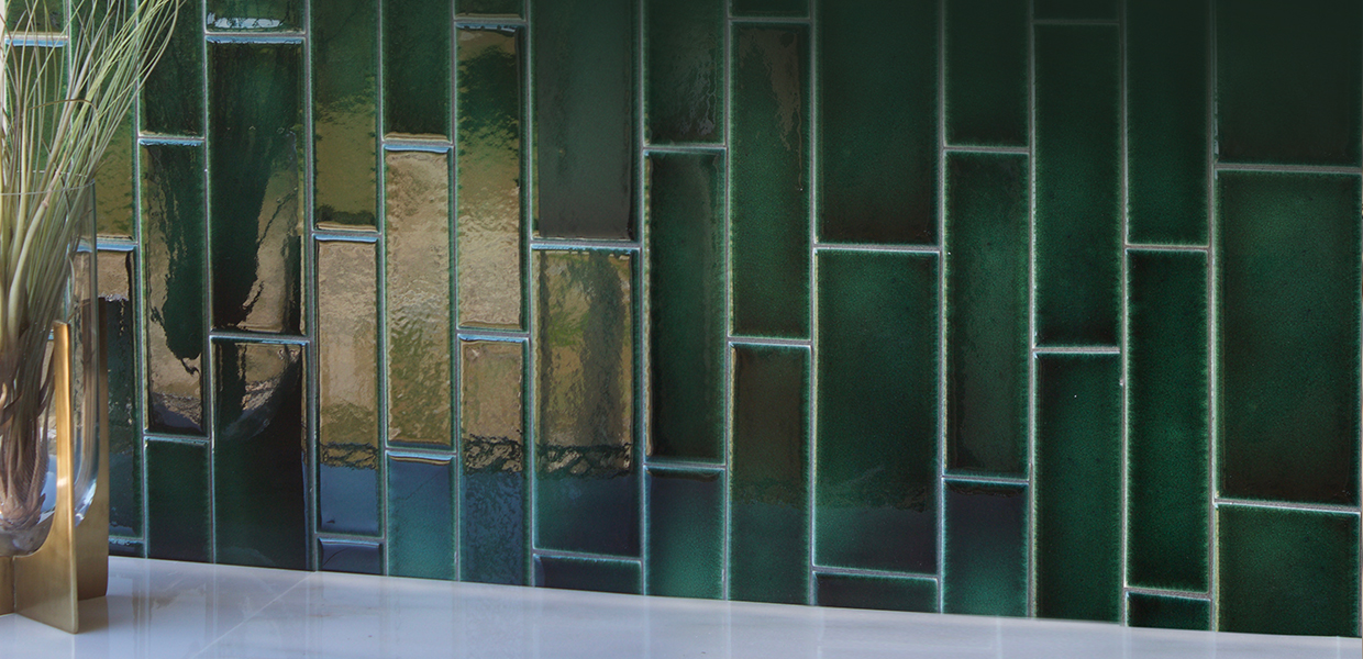 Glazed ceramic subway tile