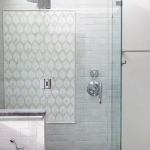 Plumage mosaic shower panel