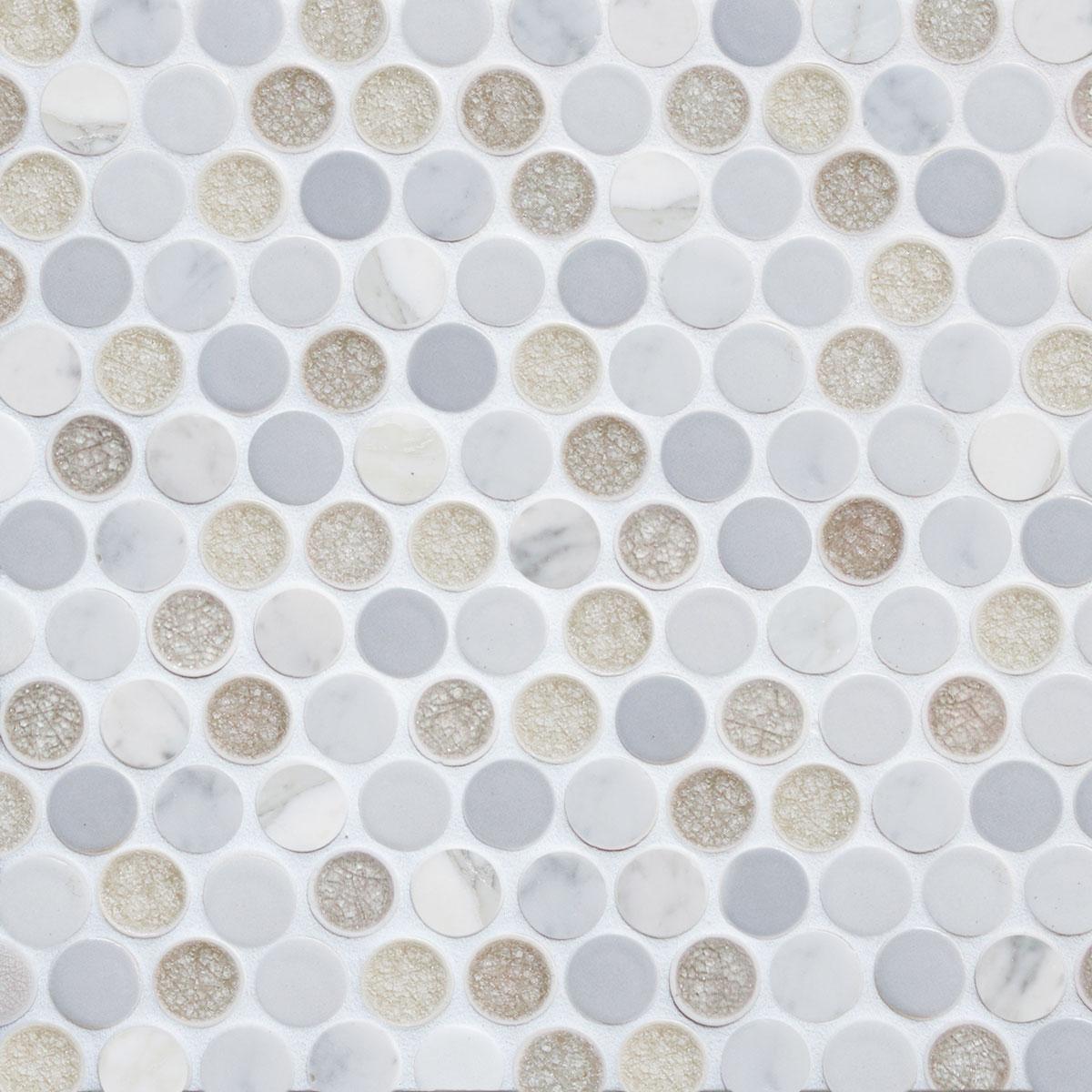 circles mini mosaic encore ceramics. Black Bedroom Furniture Sets. Home Design Ideas