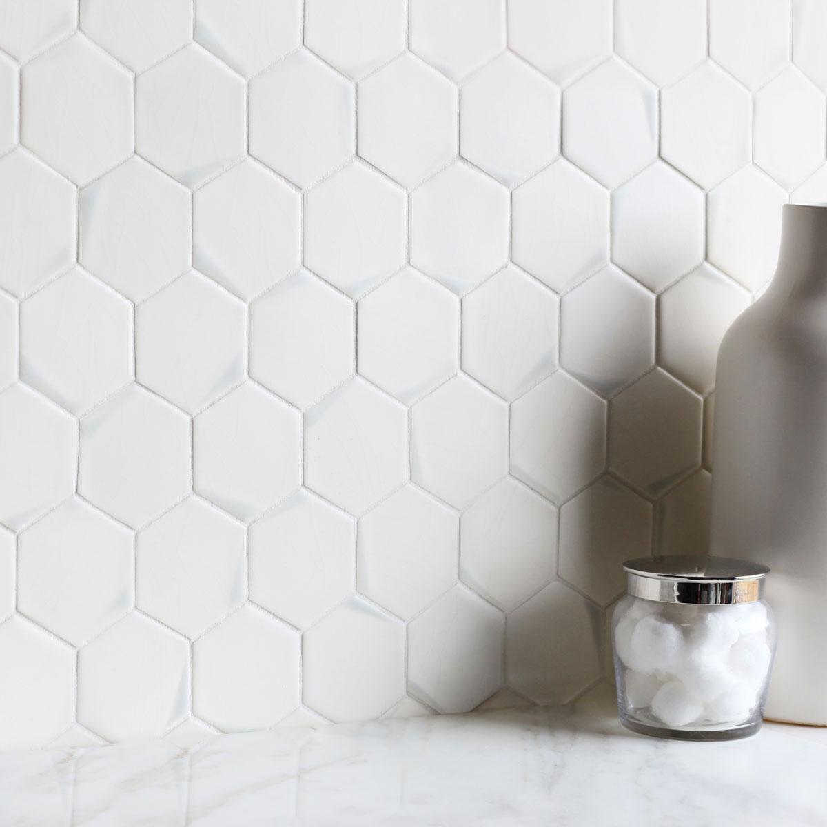 Hexagon 35 kiss dip mosaic encore ceramics mosaics dailygadgetfo Images